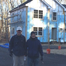 Bob and Chris in front of the build